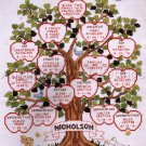 Wedding Birth Record Family Sampler Cross Stitch Kit Family Apple Tree