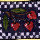 PETERSON STITCH ZIP COIN PURSE CREDIT CARD CASE NEEDLEPOINT KIT CHERRY HEARTS