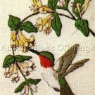 RARE LINDA POWELL YELLOW FLOWER HUMMINGBIRD CREWEL EMBROIDERY KIT BIRD