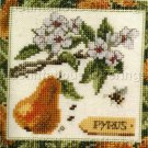 MARJOLEIN BASTIN PEAR BLOSSOMS BEE CROSS STITCH KIT PYRUS