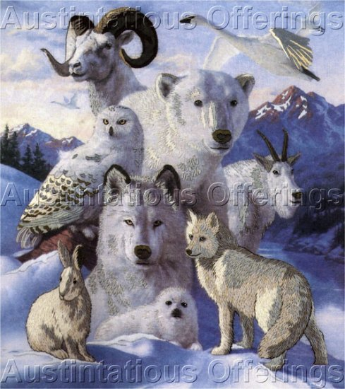 Dramatic Artic Wildlife Crewel Embroidery Kit James Himsworth Dignity of North