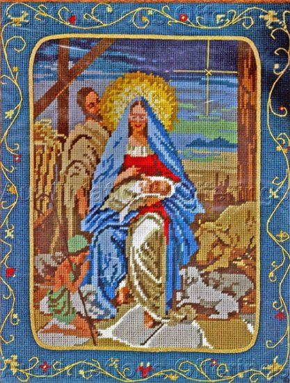 Inspirational Nativity Needlepoint Kit Holy Family Beth Rienstra