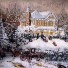 RARE VICTORIAN WINTER HOLIDAY HOME NEEDLEPOINT KIT THOMAS KINKADE