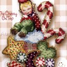 Christmas Elf Babies Beaded Cross Stitch Kit Brooke's Books Cherry