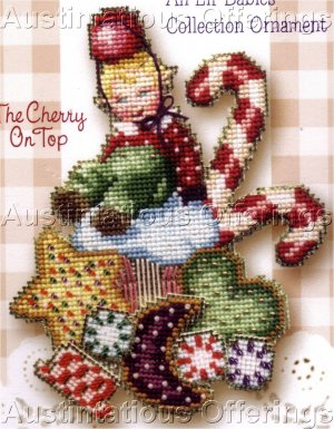 Christmas Elf Babies Beaded Cross Stitch Kit Brooke�s Books Cherry