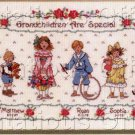 Betty Whiteaker Treasured Grandchildren Cross Stitch Kit Grandchild Birth Sampler