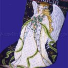 Joan Elliott Wintry Angel Cross Stitch Stocking Kit Holly Boughs