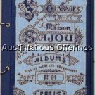Vintage French Alphabet Embroidery Album Repro Cross Stitch Kit Notepad Sampler Journal Kit