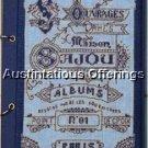 Vintage French Alphabet Embroidery Album Repro Cross Stitch Kit Notepad Sampler Journal Kit