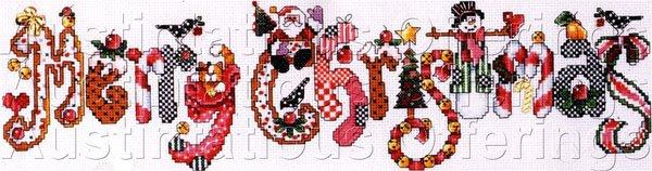 Rare Baatz Holiday Sampler Beaded Cross Stitch Kit Merry Christmas Charms