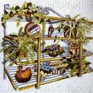 Rare Charlene Gerrish Bread Bakery Shelf Crewel Embroidery Kit Baguettes Plants