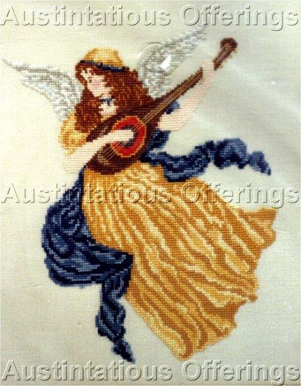 Renaissance Herald Angel Counted Cross Stitch Kit Lute