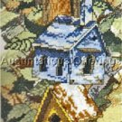 Mike Capser Artwork Repro Lofty Birdhouses Cross Stitch Kit Elsa Williams