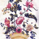 Rare Williamsburg Colonial Floral Crewel Embroidery Kit 18th Century Reproduction