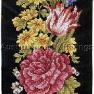 Dramatic Joan Marchie Spring Floral Cross Stitch Bellpull Kit