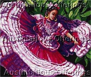 Linda Gillum Spanish Gypsy  Counted Cross Stitch Kit Flamenco Dancer