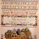 Rare LeClair Evenweave Cottage Cross Stitch Sampler Kit Williams Heritage