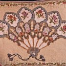 Elegant Victorian Fan Needlepoint Kit Louis Nichole Floral Border