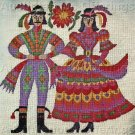 RARE SPANISH FOLK ART COSTUMES NEEDLEPOINT PICTURE / PILLOW KIT