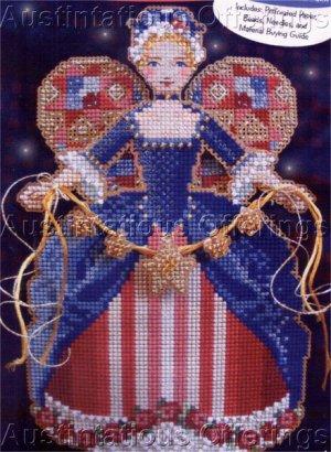 Christmas Spirit Angels Bead Cross Stitch Kit Brookes Books America