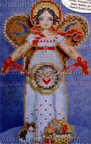 Christmas Spirit Angel of Cross Stitch Beaded CrossStitch Kit Brookes Books