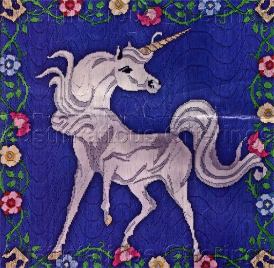 Medieval Tapestry Unicorn Longstitch Needlepoint Kit Cluny Flowers