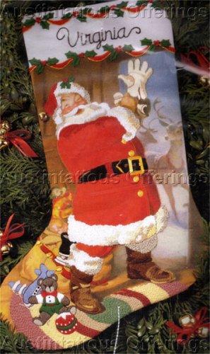 RARE SUNDBLOM HALLMARK SANTA CREWEL EMBROIDERY STOCKING KIT CHRISTMAS EVE