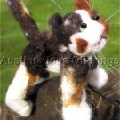 CALICO CAT NEEDLE FELTING CRITTER KIT MISS KALI CAT ALLYN AUSTIN FELTED ANIMALS
