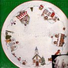 Rare Nancy King Folk Art  Crewel Embroidery Tree Skirt Kit Christmas Village