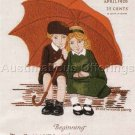 RARE JESSIE WILLCOX SMITH CREWEL EMBROIDERY KIT MAG  COVER REPRODUCTION GOOD HOUSEKEEPING APRIL 1926