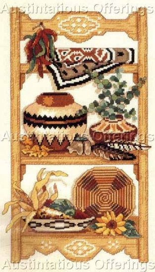 SOUTHWEST POTTERY & BASKET COLLECTION COUNTED CROSS STITCH KIT BLANKET