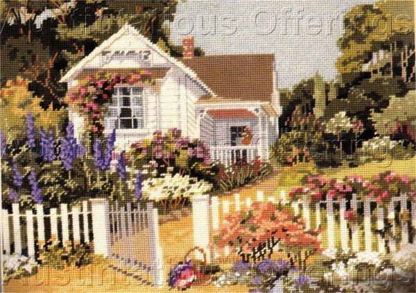 Dertner Summer Garden Textured Needlepoint Kit House