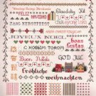 Rare  Bombard Merry Christmas Sampler Cross Stitch Kit Around World