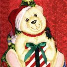 Rare Croteau Christmas Trompe L'Oeil Polar Bear Needlepoint Kit Doorstop