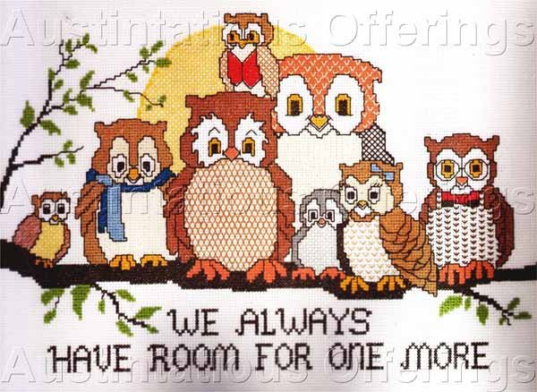 Eileen Violet Own Family Cross Stitch Kit Always Room for More Suitable for Beginning Stitcher