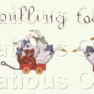 Dale Burdette Country Cross Stitch Teddy Bears Ducks Pulling Together Suitable for Beginners
