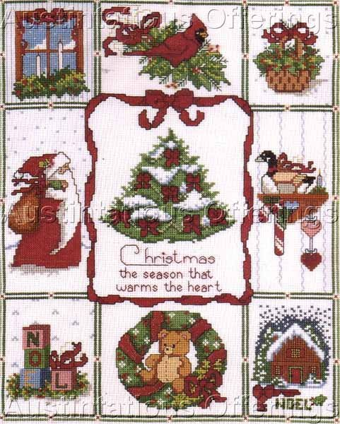 Bonnie Smith Iconic Christmas Warmth Sampler Cross Stitch Kit