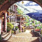 Park Mediterranian View Cross Stitch Kit Italian Coastal View