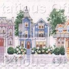 Rare Rossi Street Scene Counted Cross Stitch Kit Victorian Homes
