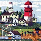 Rare Wysocki Red White Lighthouse Needlepoint Kit Light Keeper's Home