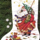 PEGGY ABRAMS WINDSWEPT SANTAS GOLD COLLECTION CROSS STITCH KIT WINTER TRAVELER