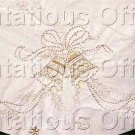Christmas Bells Crewel Embroidery Candlewicking Tree Skirt Kit Tablecloth