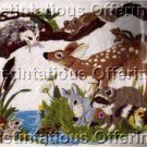 Rare Woodland Animals Crewel Embroidery Kit Possum Deer