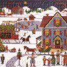 RARE CHARLES WYSOCKI FOLK ART  VILLAGE YULETIDE CAROLERS CROSS STITCH KIT CHRISTMAS CHEER
