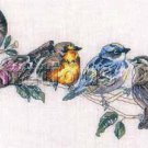 Rare Giampa Song Bird Cross Stitch Kit Evenweave Seven Birds on a Branch