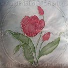 Rare Jean Fox Candlewicking Crewel Embroidery Floral Pillow Kit Tulip