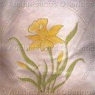 Rare Jean Fox Candlewicking Crewel Embroidery Floral Pillow Kit Daffodil