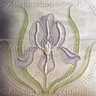 Rare Jean Fox Candlewicking Crewel Embroidery Floral Pillow Kit Iris