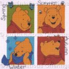 WINNIE THE POOH SEASONS CROSS STITCH KIT
