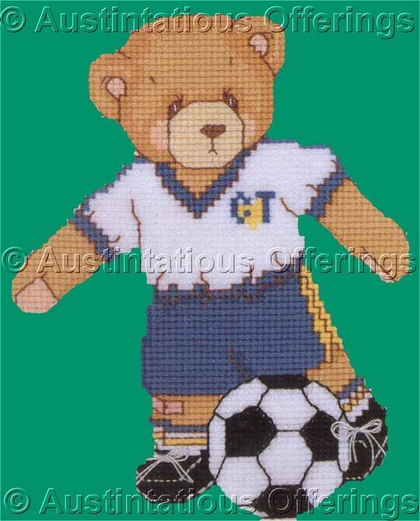 CHERISHED TEDDIES CROSS STITCH SOCCER PLAYER